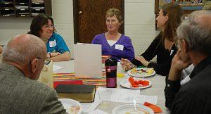 volunteer brunch table group