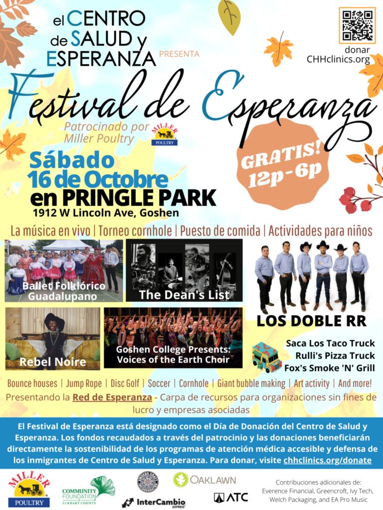 Festival de Esperanza Sabado 16 de Octobre